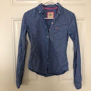 Hollister Stripe Button Down Shirt Size XS